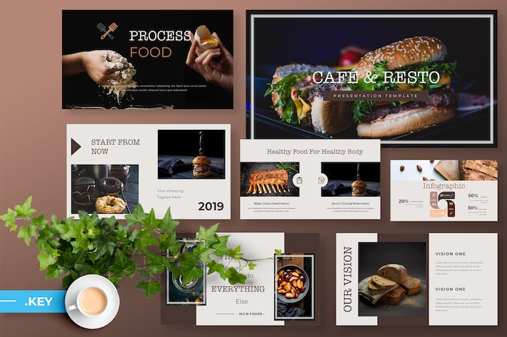 Thumbnail for Cafe & Resto - Food Keynote Presentation