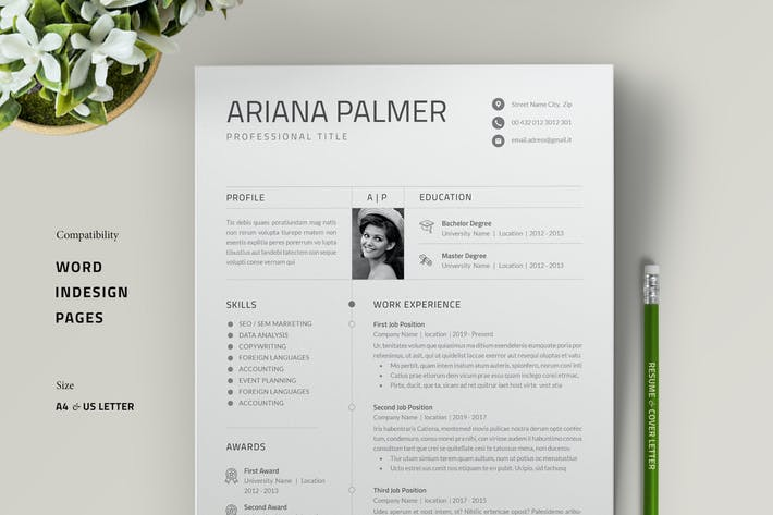 Thumbnail for Resume Template / Cover Letter