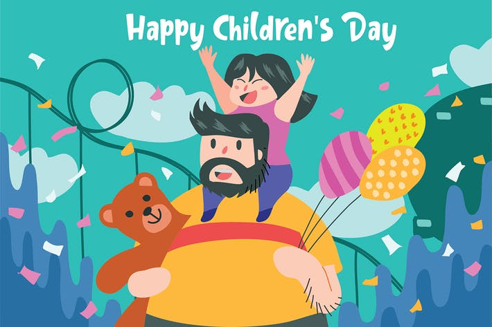 Thumbnail for Childrens Day - Vector Illustration