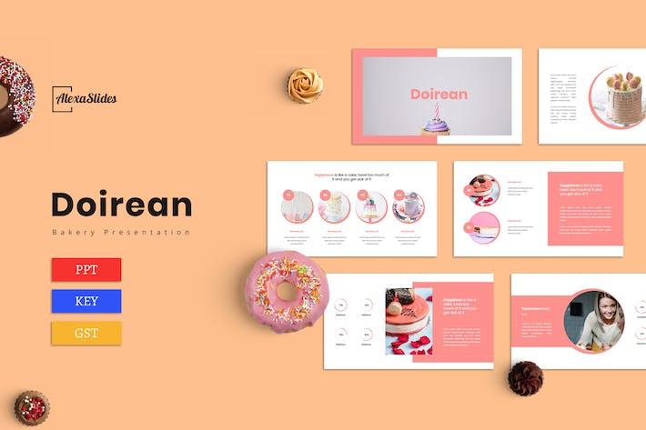Thumbnail for Doirean - Шаблон презентации хлебобулочных