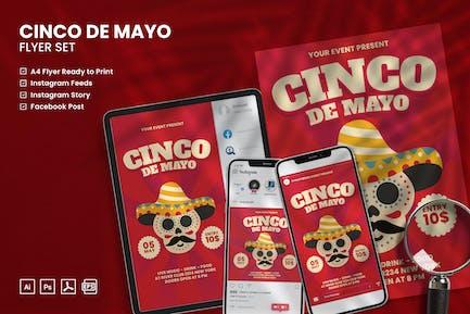 Cinco De Mayo - Flyer Set