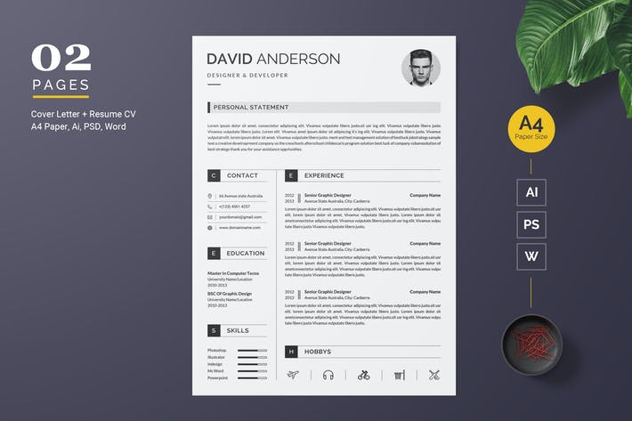 Cover Image For Clean Resume CV Template
