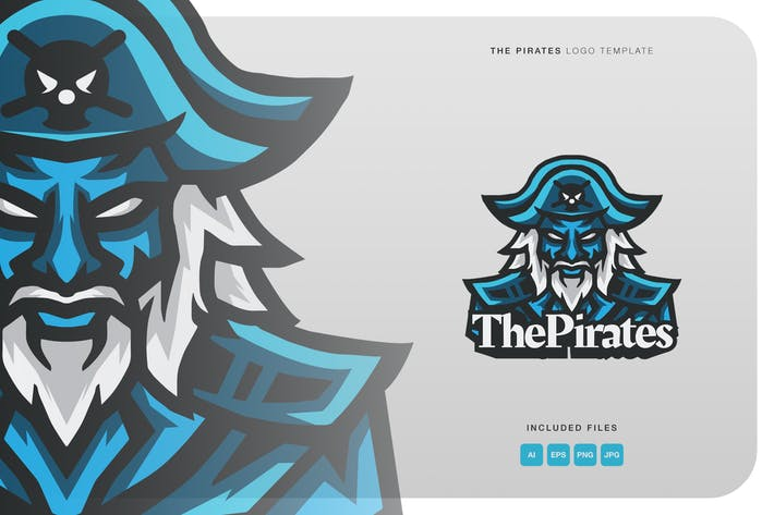 Thumbnail for The Pirates Logo Template