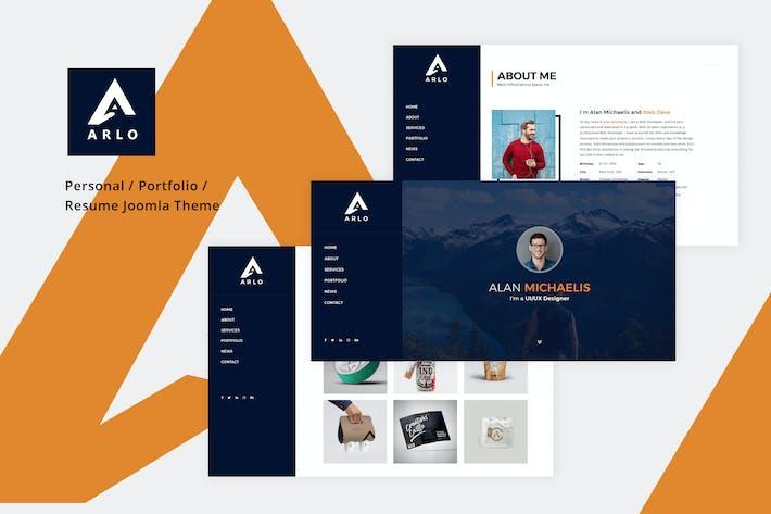 Thumbnail for Arlo - Personal / Portfolio / Resume Joomla Theme