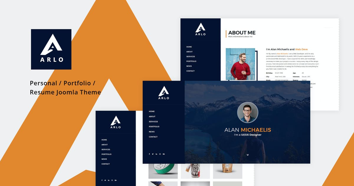 Download Arlo - Personal / Portfolio / Resume Joomla Theme by codelayers