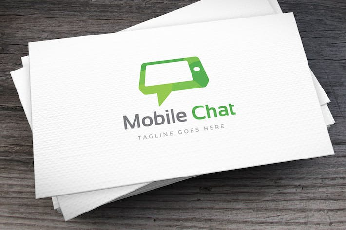 Thumbnail for Mobile Chat Logo Template