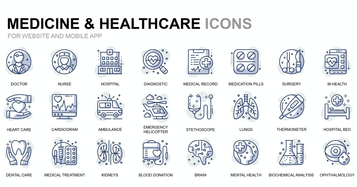 Download Healthcare and Medicine Thin Line Icons by alexdndz