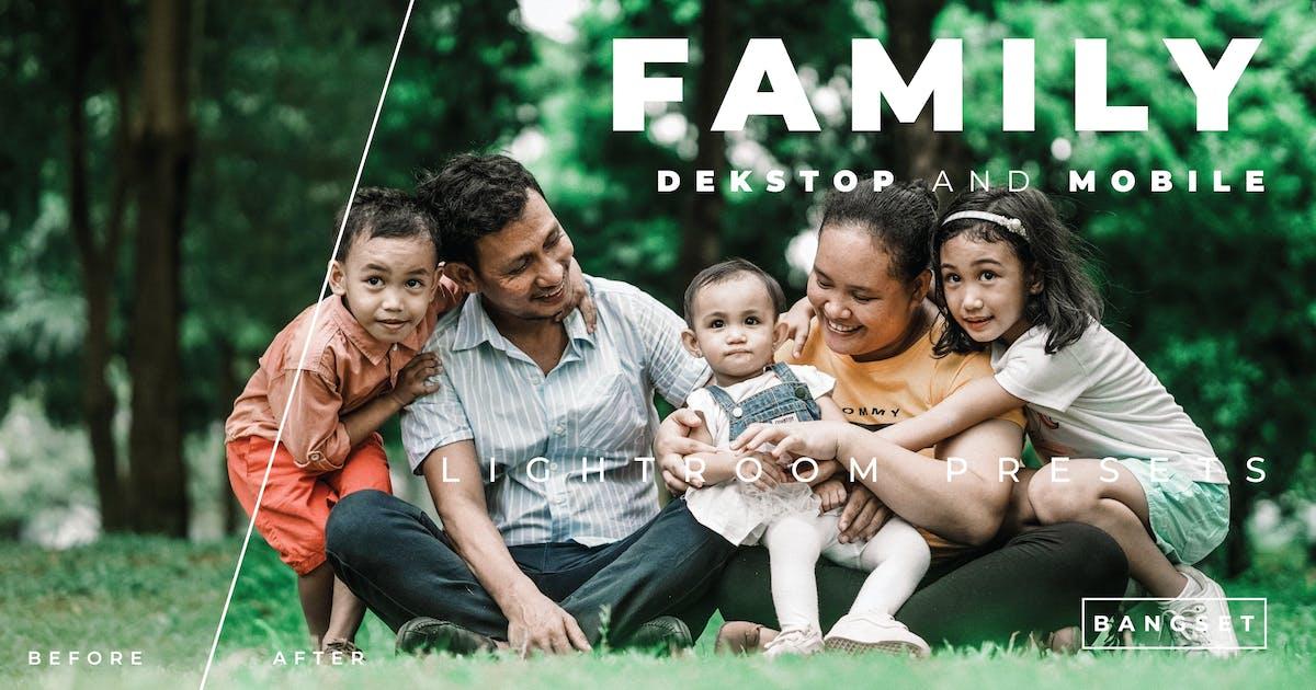 Family Desktop and Mobile Lightroom Preset by Bangset