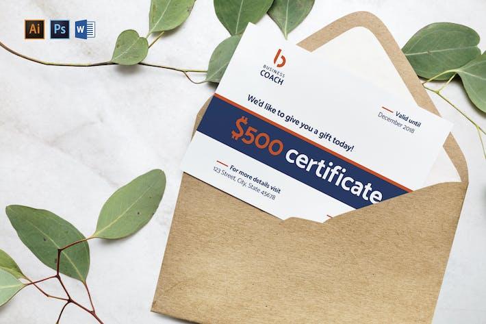 Thumbnail for Certificat Cadeau Coach Business