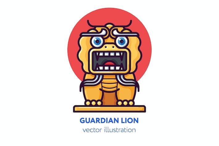 Thumbnail for Chinesische Wächter Löwe Vektor Illustration