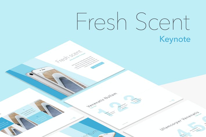 Thumbnail for Fresh Scent Keynote Template