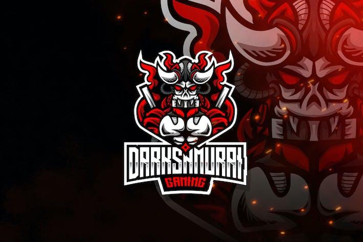 Thumbnail for Dark Samurai Esport Logo Template