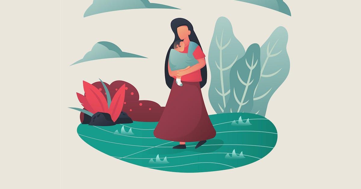 Download Mom & Baby - Illustration GR by Rometheme