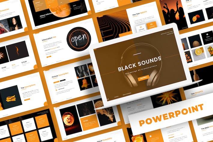 Черные звуки - Шаблон Powerpoint