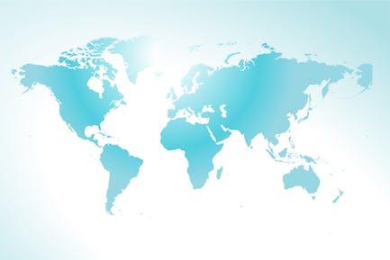 Concepto de mapa del mundo