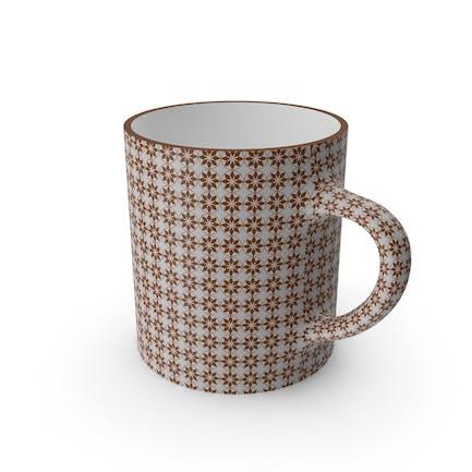 Printed Brown Flower Cup