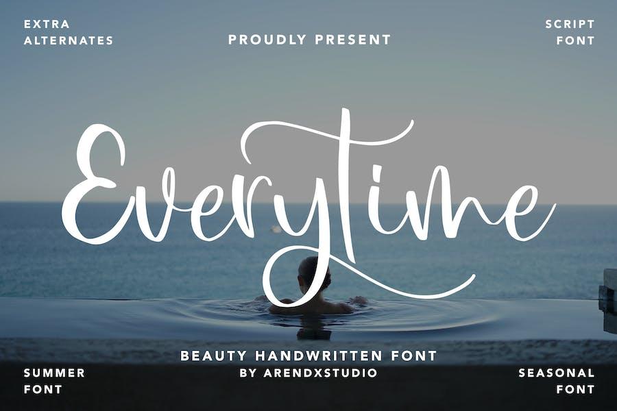 Everytime - Beauty Handwritten Font