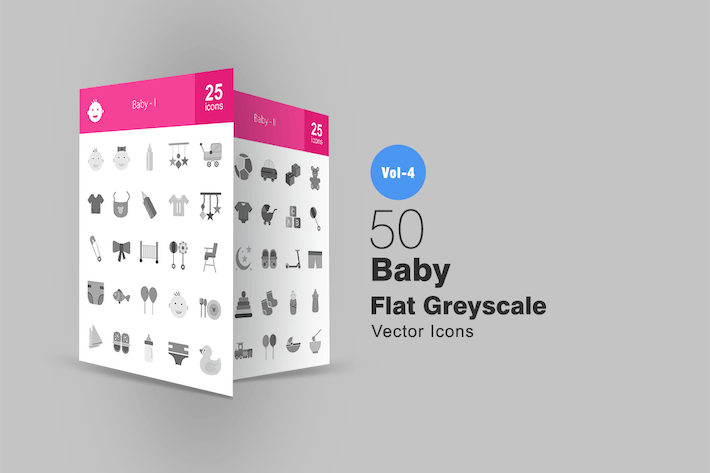 Thumbnail for 50 Baby Greyscale Icons