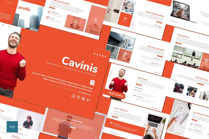 Thumbnail for Cavinis - Business Keynote Template