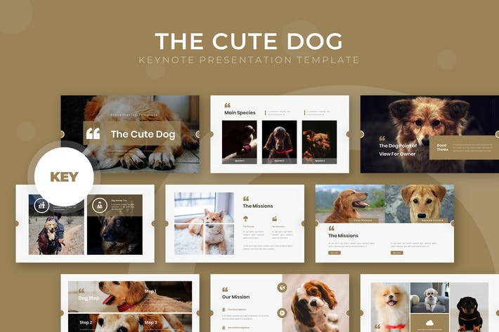 Thumbnail for The Cute Dog - Keynote Template