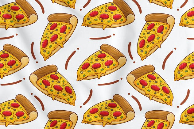 Pizza Seamless Pattern - product preview 1