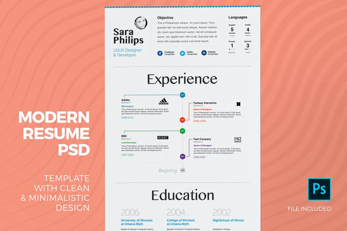 Premium Resume & Cover Letter Template by zippypixels on
