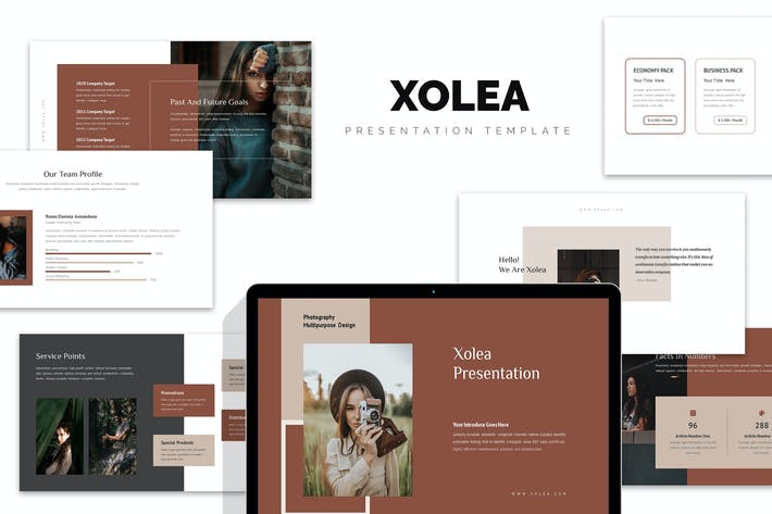 Thumbnail for Xolea : Photography Business Profile Google Slides