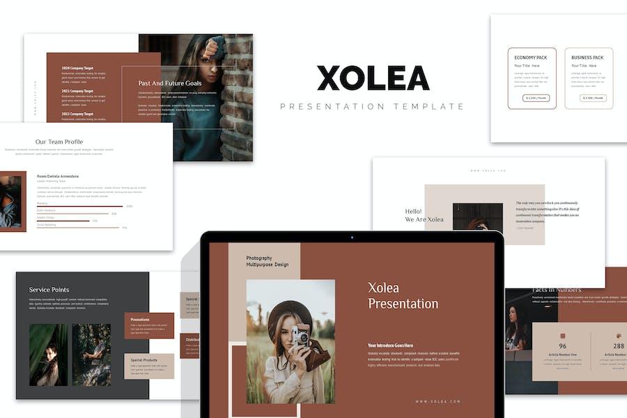 Xolea : Photography Business Profile Google Slides