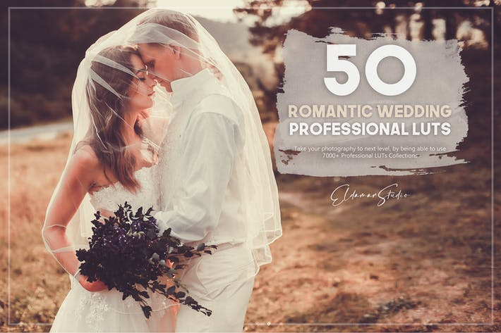 Thumbnail for 50 Romantic Wedding LUTs Pack