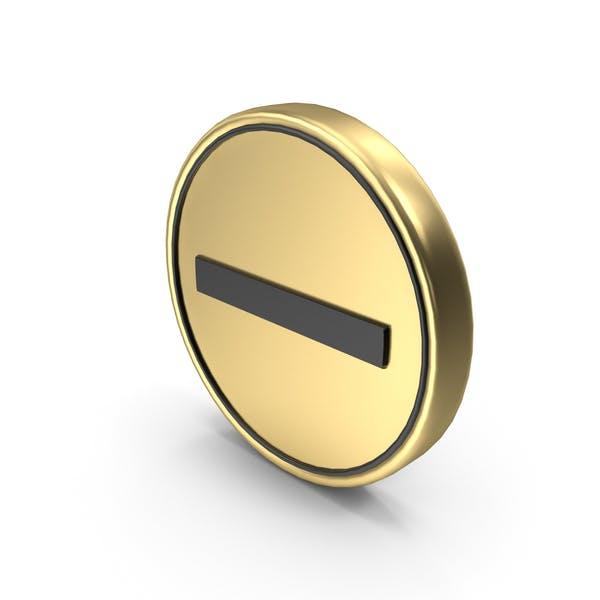 Minus No Entry Münze Zeichen Symbol Symbol