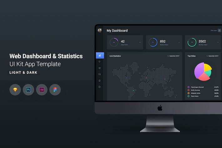 Thumbnail for Web Dashboard & Statistics UI Kit App Template 7