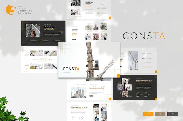 Thumbnail for Consta - Construction Presentation Template