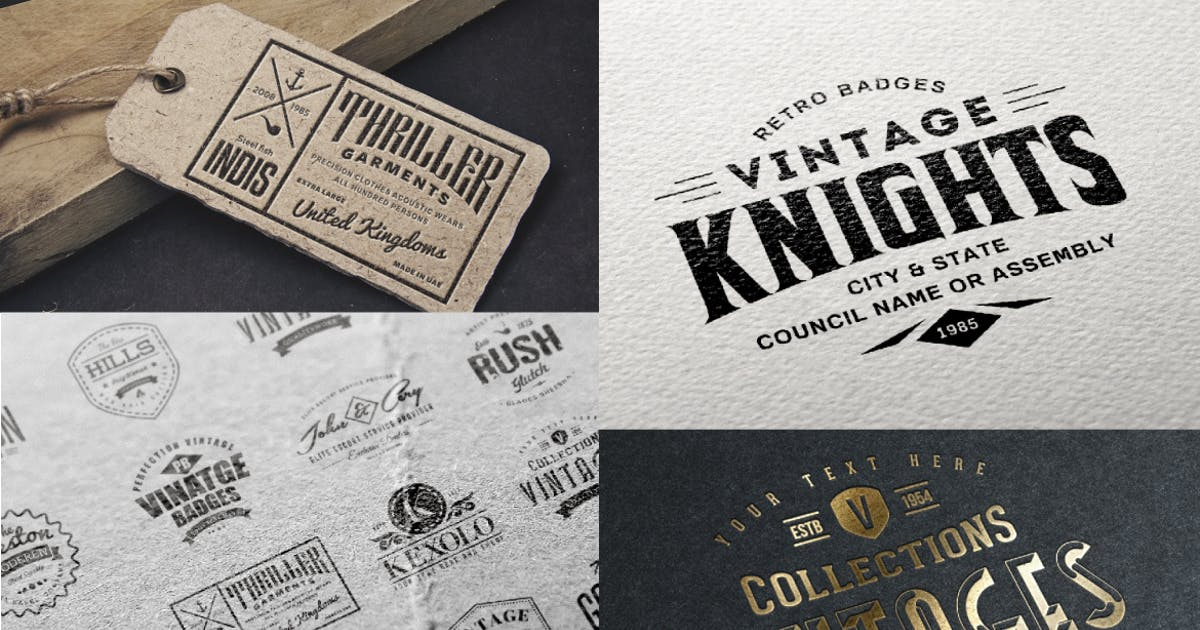 Download Badges and Logos Vol.01 by designhatti