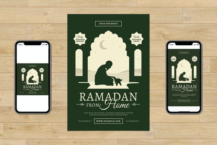 Ramadan From Home Flyer Set