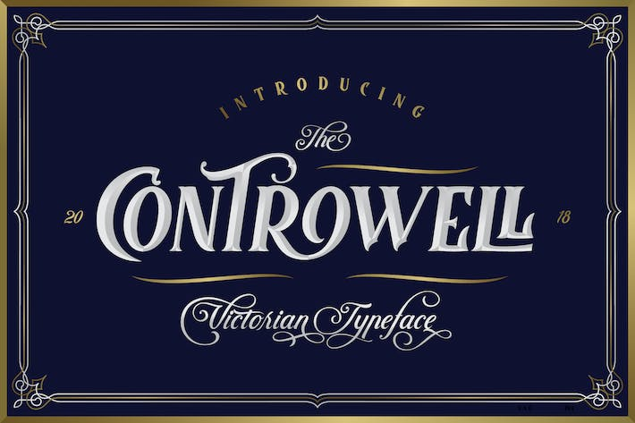Thumbnail for Controwell Victorian Typeface