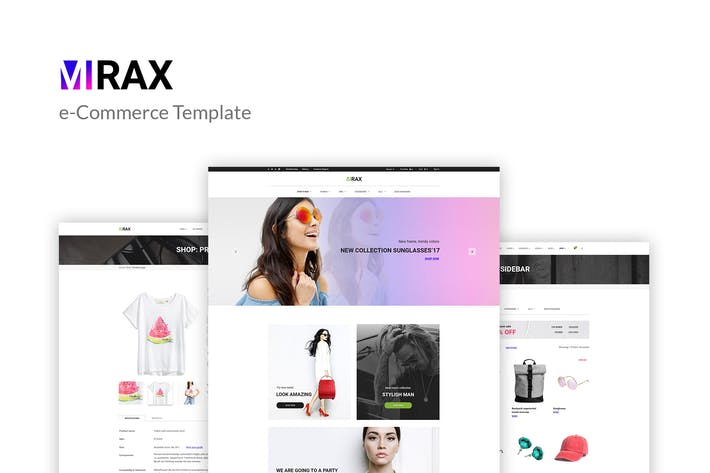Thumbnail for Mirax - Plantilla PSD eCommerce