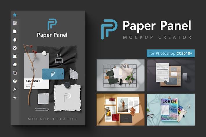 Бумажная панель - Создатель макап