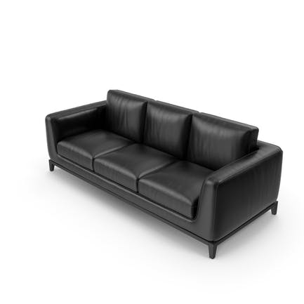 Sofa Black Leather