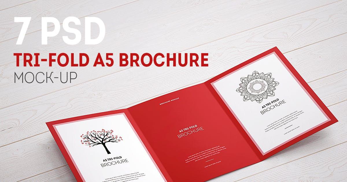 Tri-Fold Brochure A5 Mock-up by webandcat