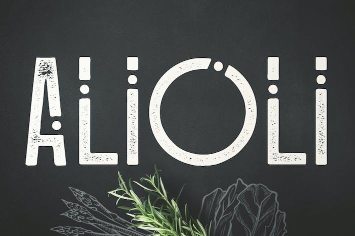 Thumbnail for Alioli Texture Font
