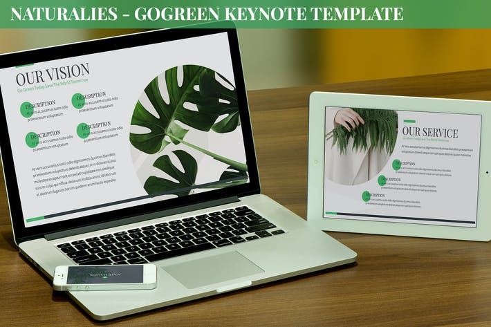 Thumbnail for Naturalies - GoGreen Keynote Template