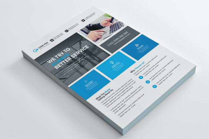 Thumbnail for Business Flyer Template 08