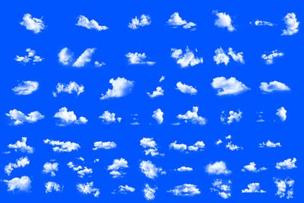 Juego de Photoshop de 50 piezas de ensueño suaves nubes