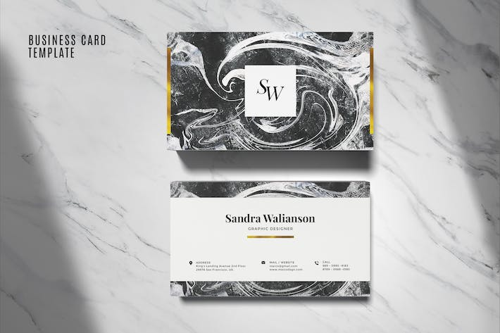 Thumbnail for Elegant Business Card Template #06