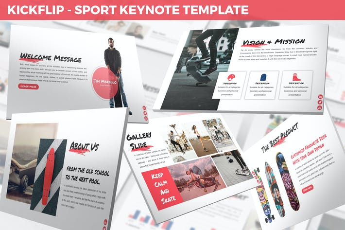 Thumbnail for Kickflip - Sport Keynote Template