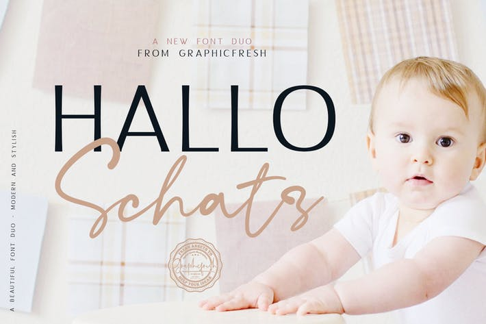 Thumbnail for Hallo Schatz Font Duo