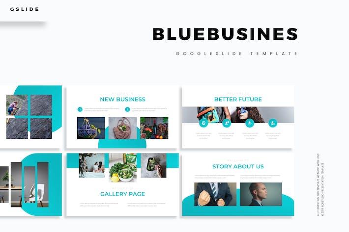 Thumbnail for Синий бизнес - Шаблон слайдов Google
