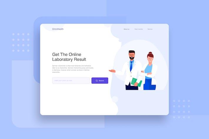 Doctor and Nurse landing page header Illustration