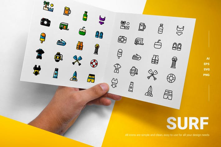 Thumbnail for Surf - Icons
