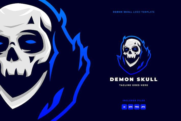 Thumbnail for Demon Skull Logo Template